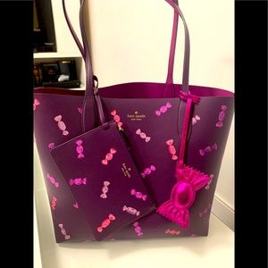 SOLD Kate Spade Candy Shop Large Reversible Tote